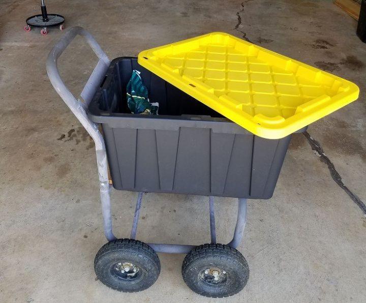 diy garden cart made from hose spool cart