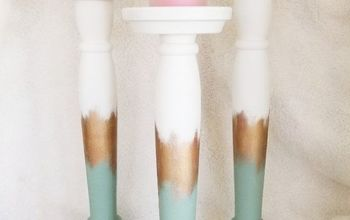 how to turn old table legs into beautiful candle sticks