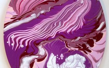 Acrylic Paint Pour Using a Sink Strainer