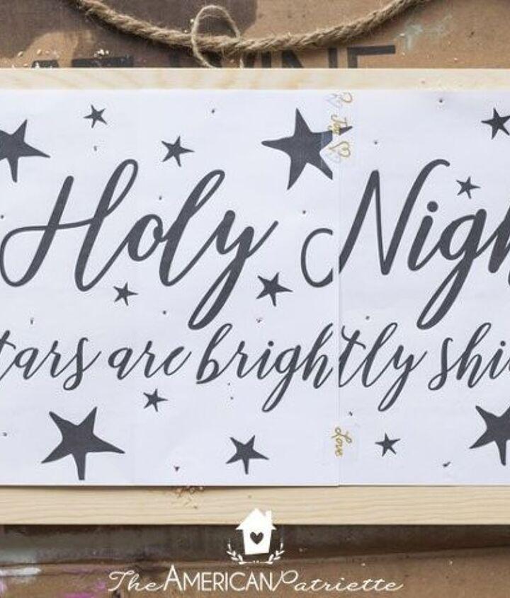 diy rustic light up christmas sign
