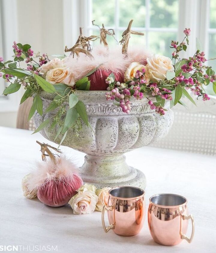 6 easy steps to create a pretty pumpkin centerpiece