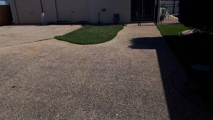 q how do i transfer my concrete backyard so my kids can play football