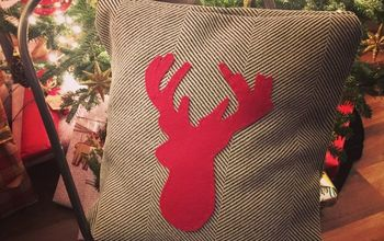 diy reindeer pillow pier 1 knock off