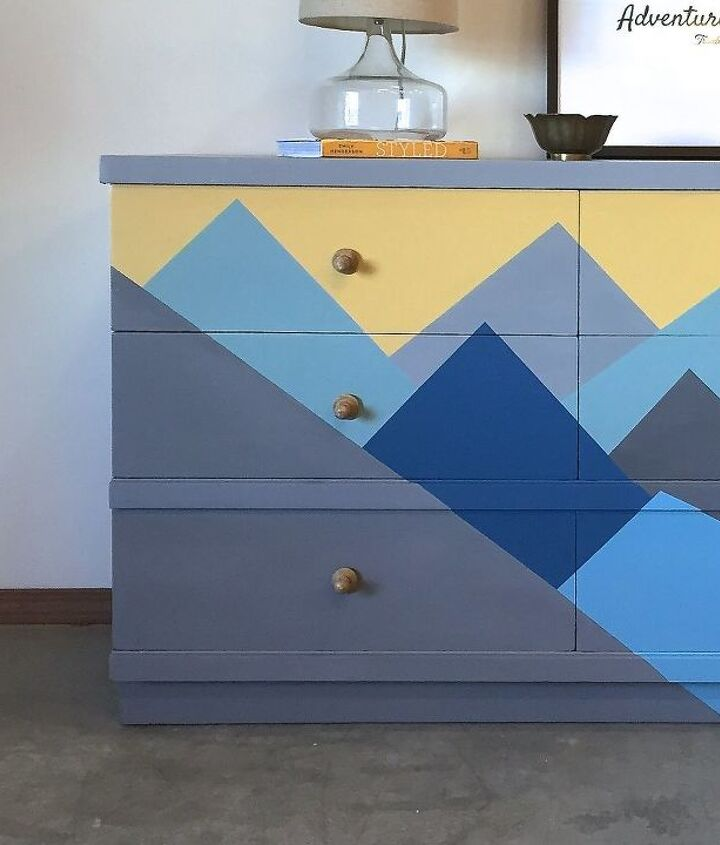 s 10 of our favorite ways to paint that old piece, This magnificent mountain range dresser