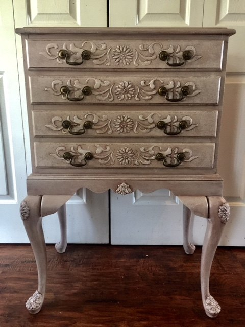 s 10 of our favorite ways to paint that old piece, This embossed belle of the ball