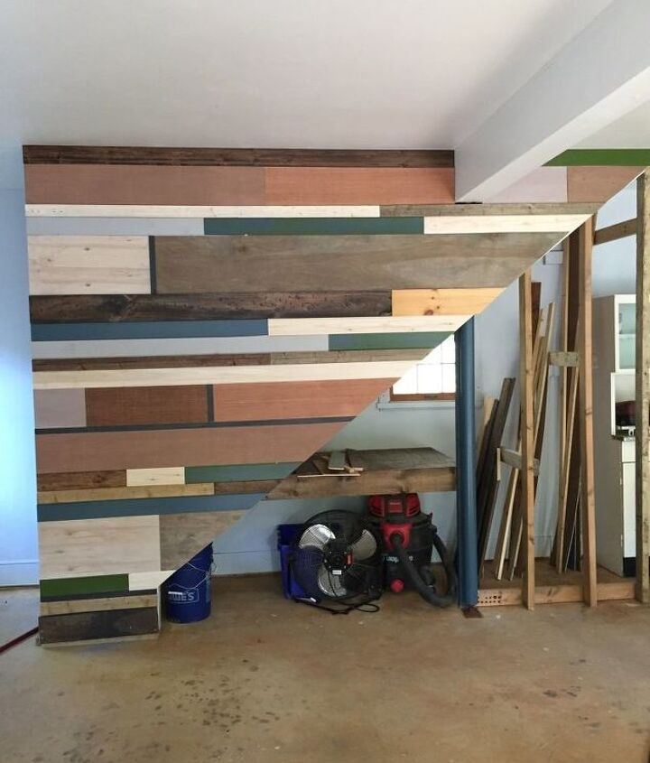 how to make a scrap wood wall