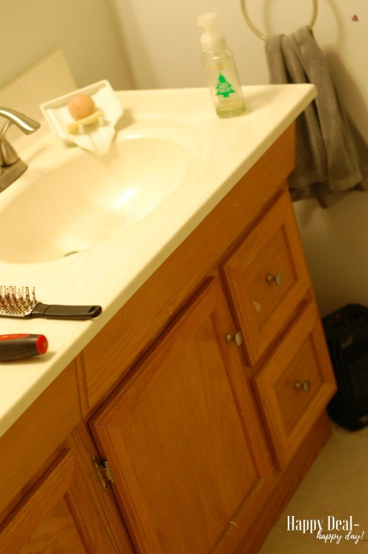 how to paint your bathroom vanity no sanding required