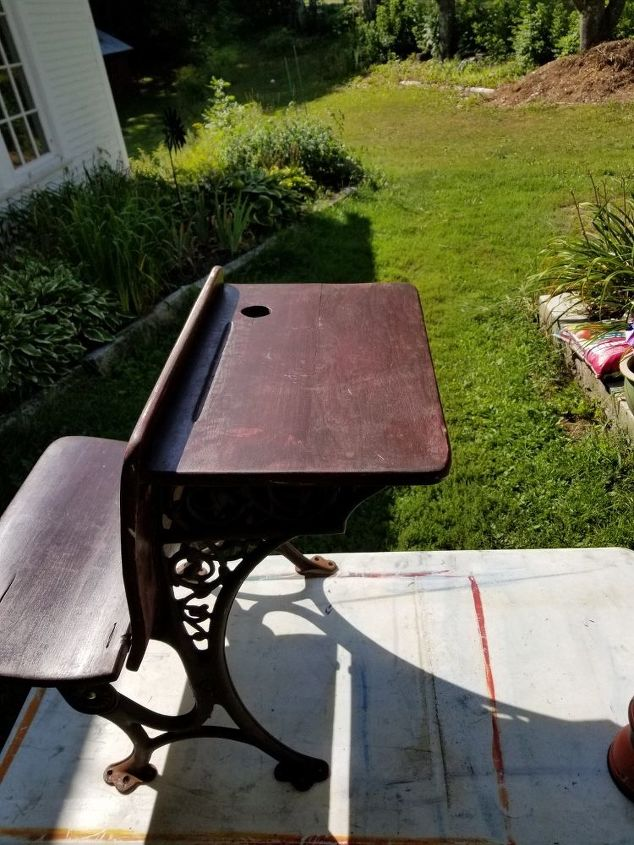 one room schoolhouse desk gets new life