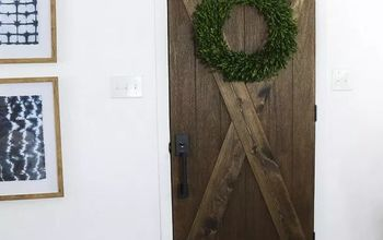 25 diy barn door upgrade for existing door