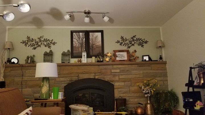 q could stone on both sides of our fireplace and built ins added