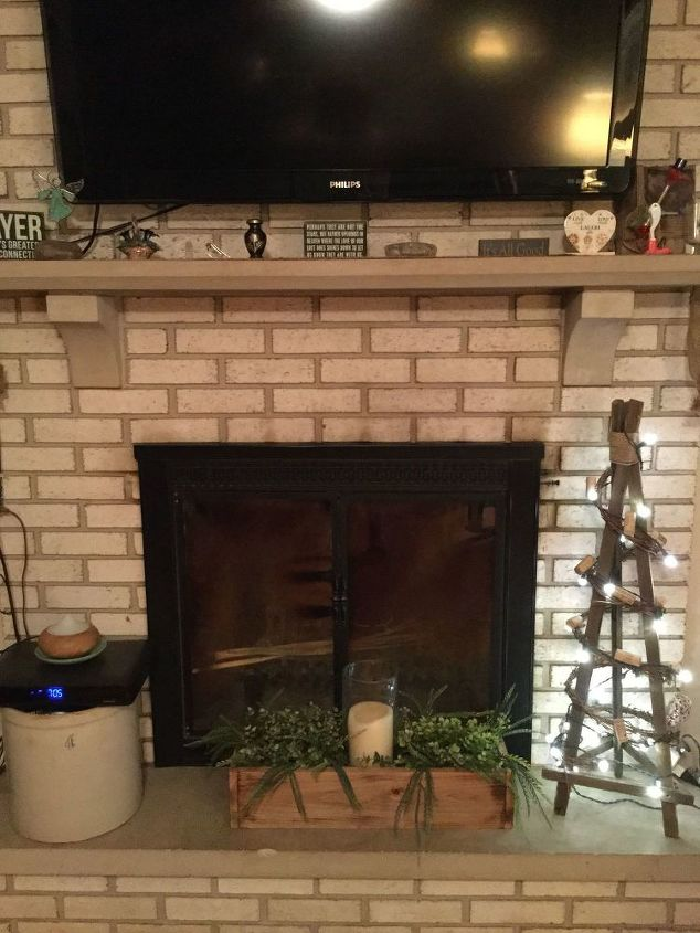 How To Refinish White Brick Fireplace
