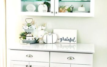 how to decorate a kitchen serving area for the fall