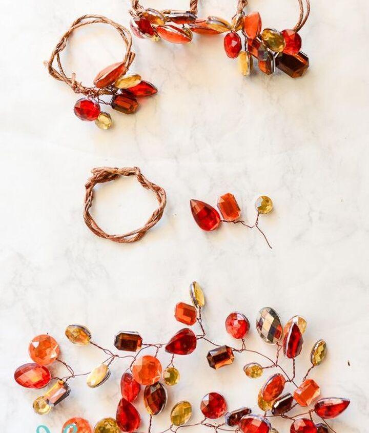jeweled fall napkin rings