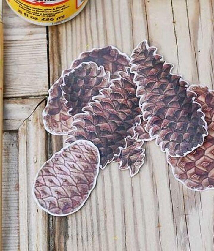 unique fall mason jars with pinecones