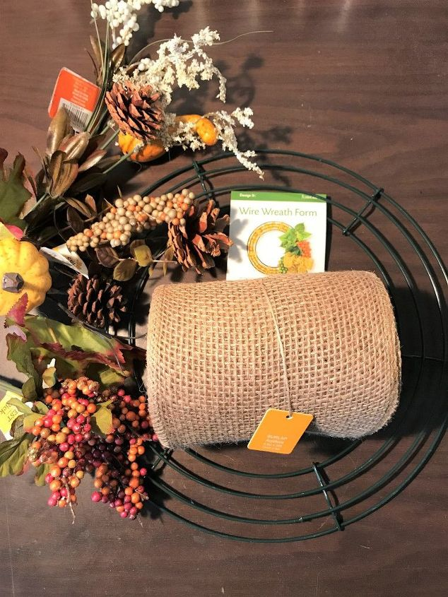 dollar tree fall burlap wreath