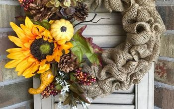 Dollar Tree Fall Burlap Wreath
