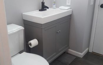 bathroom primp challenge, New look for our bathroom