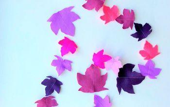 diy colorful leaf garland