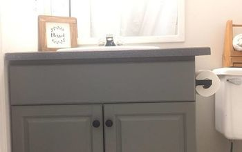Weekend Rental Bathroom Makeover Using Superior Paint Co. Chalk Paint