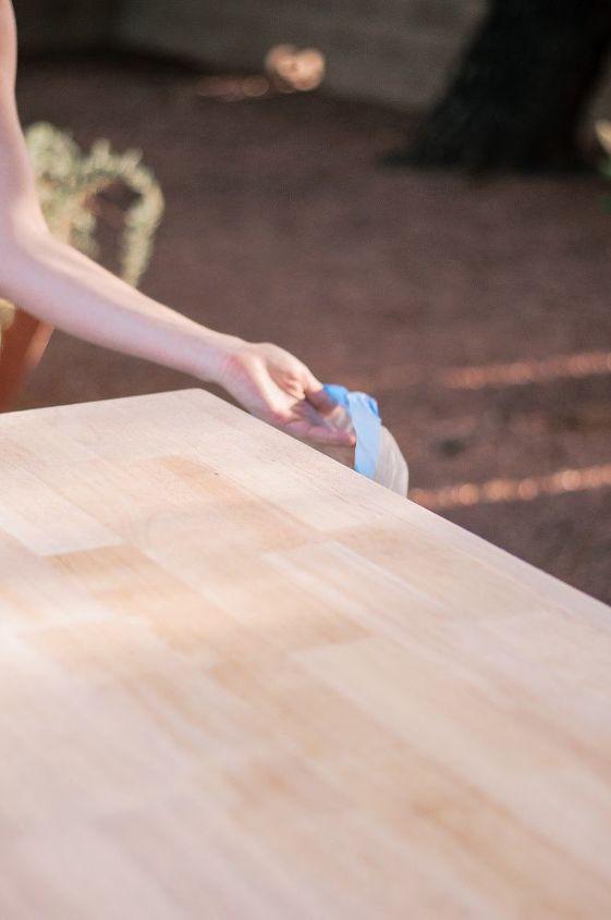 diy refinished wood dresser top