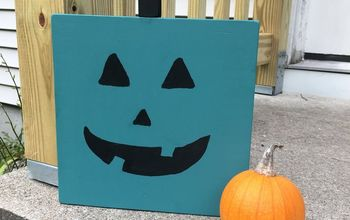 diy wooden teal pumpkin teal pumpkin project
