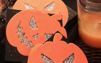 pumpkin coasters from scrap wood