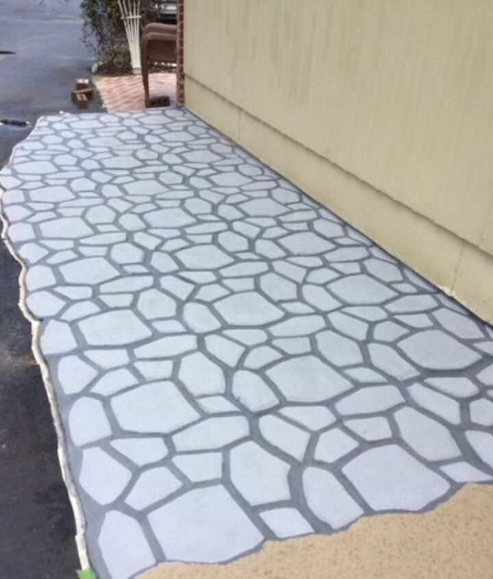 q how can faux bricks be put on outside patio