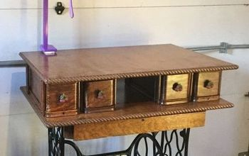 Upcycled Treadle Sewing Machine Into Grooming Table