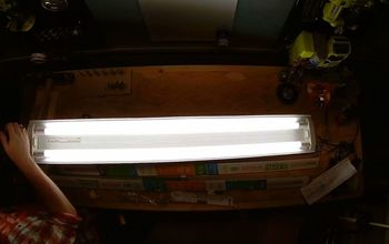 Retrofitting a Florescent Shop Light With LED Tubes