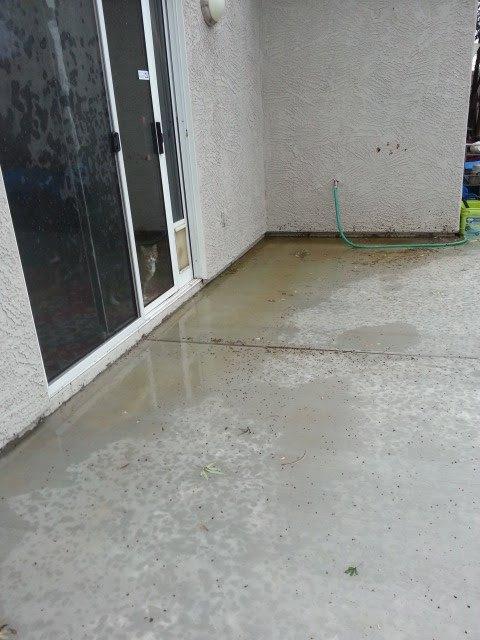q how do i fix a low area of a concrete slab