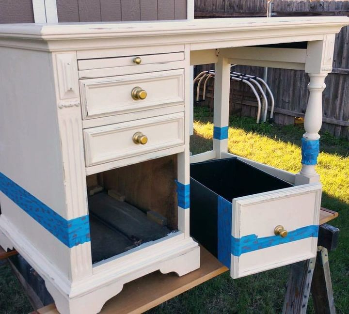 how to paint amazing gold dipped furniture for the win