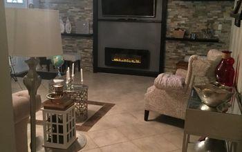 quartz built in wall unit guest living area