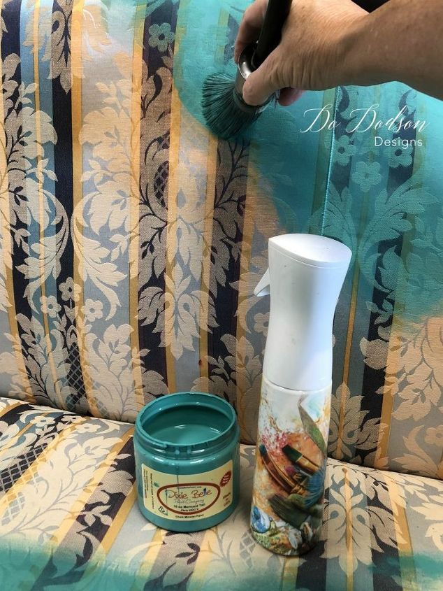 if you think painting fabric furniture is easy you are right