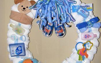 babyshower diaper wreath