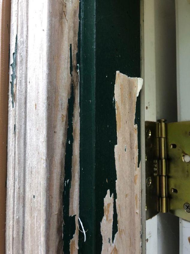q how do i remove peeling paint primer from door frame