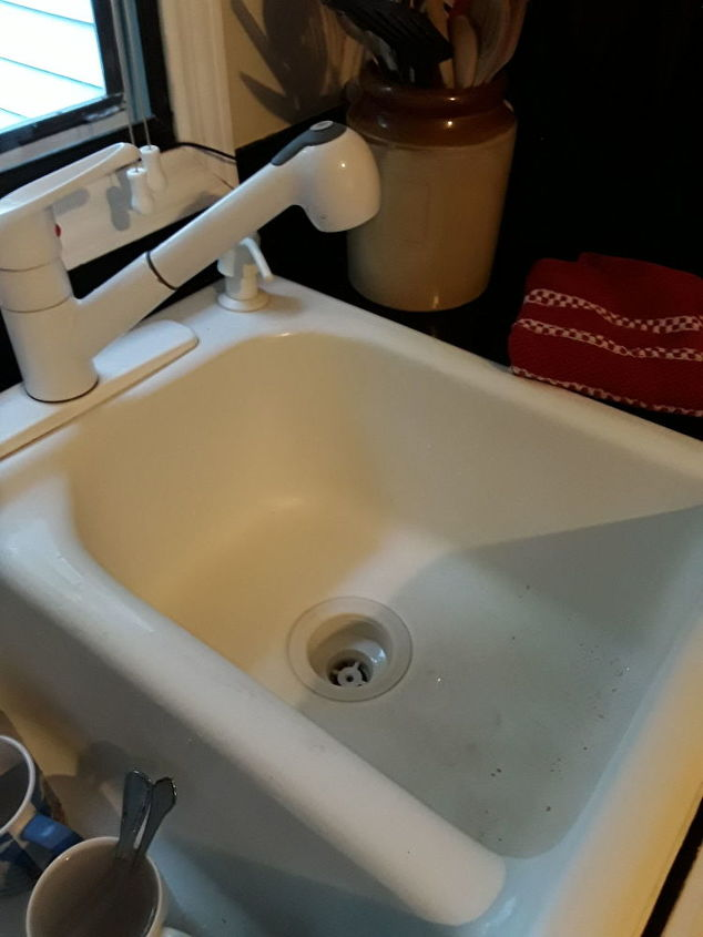 q help how do i restore my stained non cast iron sink