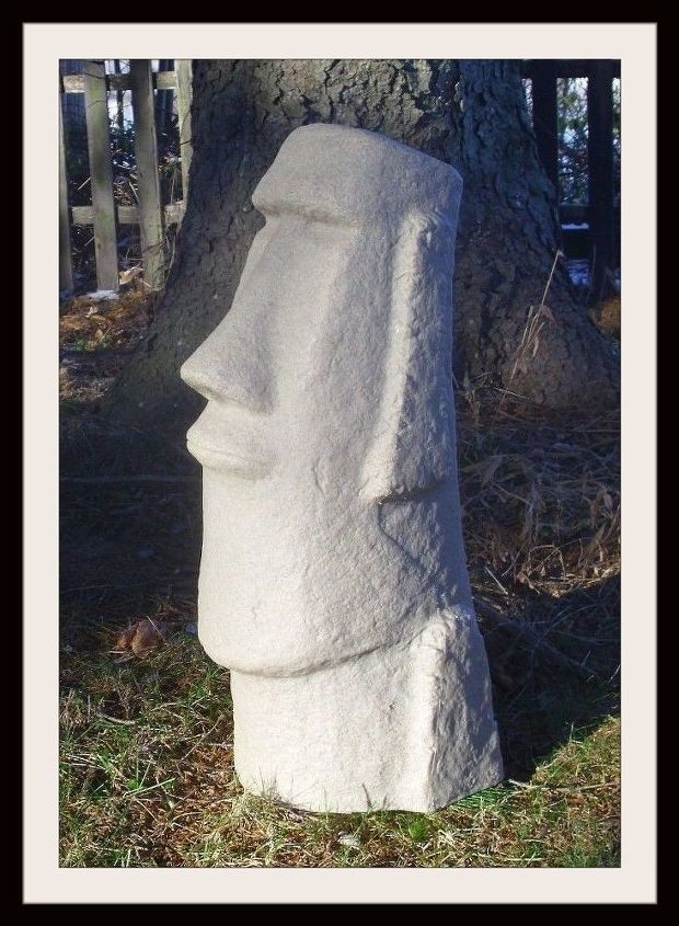 q how to make large outdoor statues