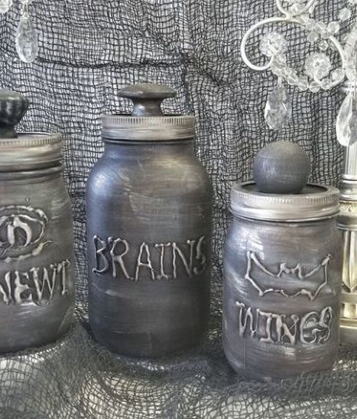 diy halloween mason jars
