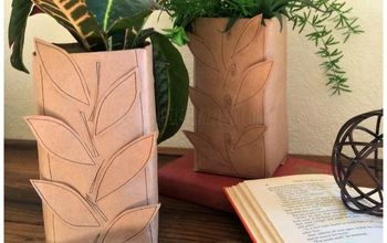 Upcycle a Milk Carton Into a Fall Leaf Vase