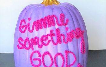 no carve pumpkin message