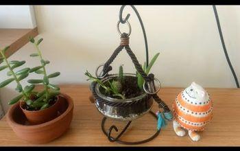 diy making hanging flower pot