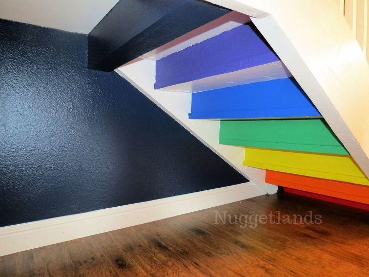 under stair reading nook