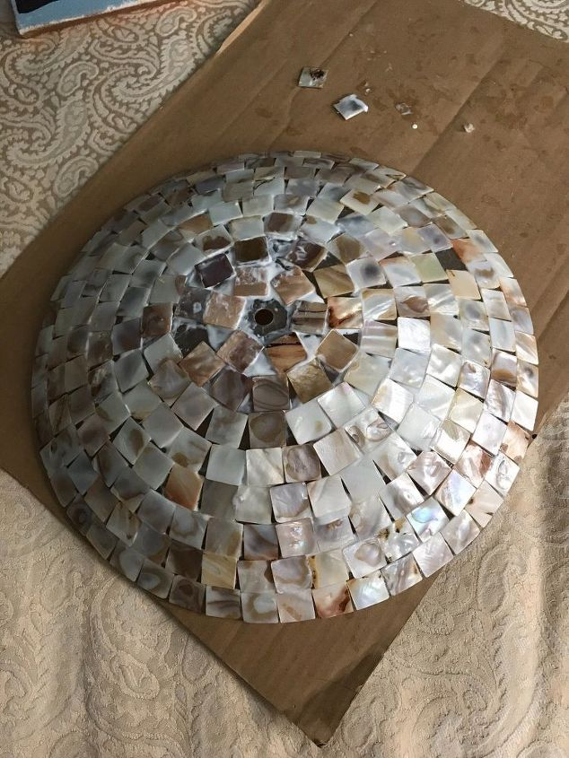 Mother Of Pearl Ceiling Light Cover Hometalk