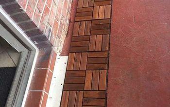 wooden floor front porch