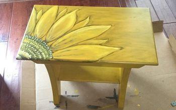 Pottery Barn Bench Makeover- Sunflower