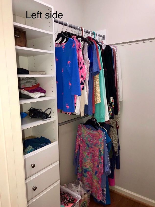 Q Any Ideas On Finishing Organizing The Rest Of My Closet Redo