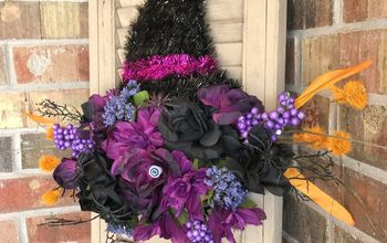 Floral Witch Hat Wreath