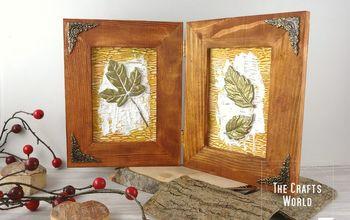 fossil leaves frame