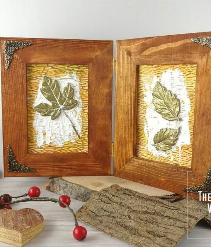 fossil leaves frame