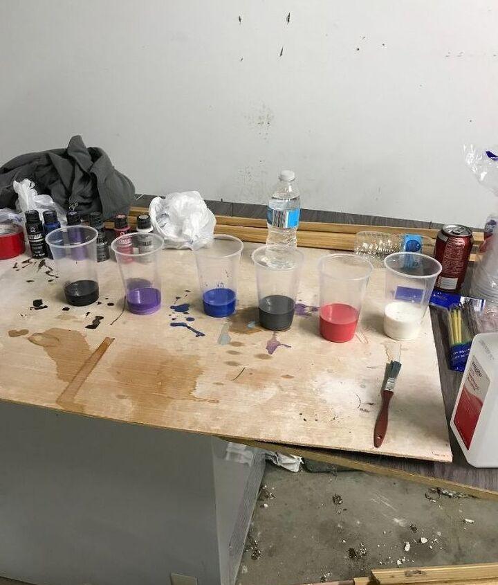diy acrylic paint pour wall art